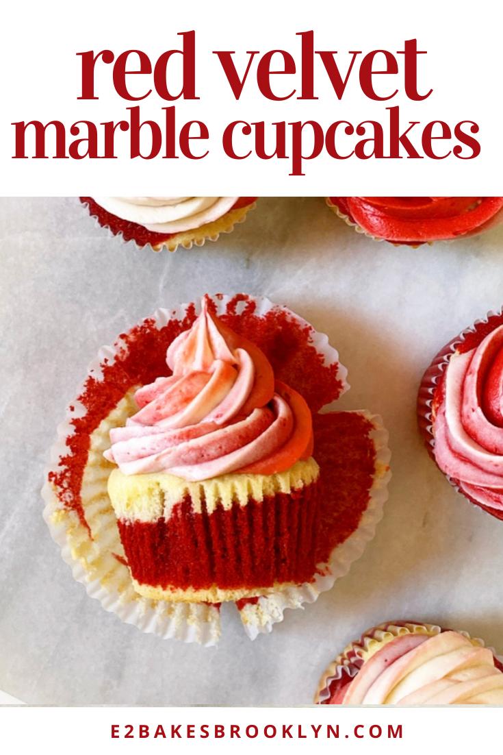 Red Velvet Marble Cupcakes