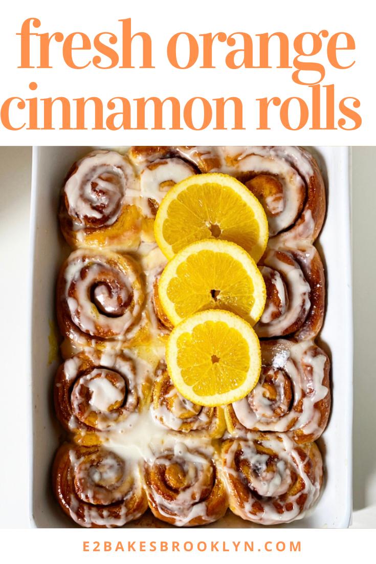 Fresh Orange Cinnamon Rolls