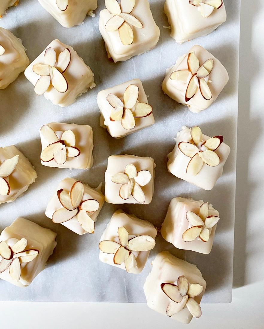 White Almond Petit Fours