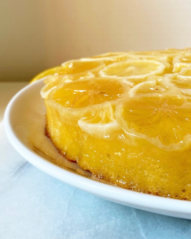 Sunny Lemon Upside-Down Cake
