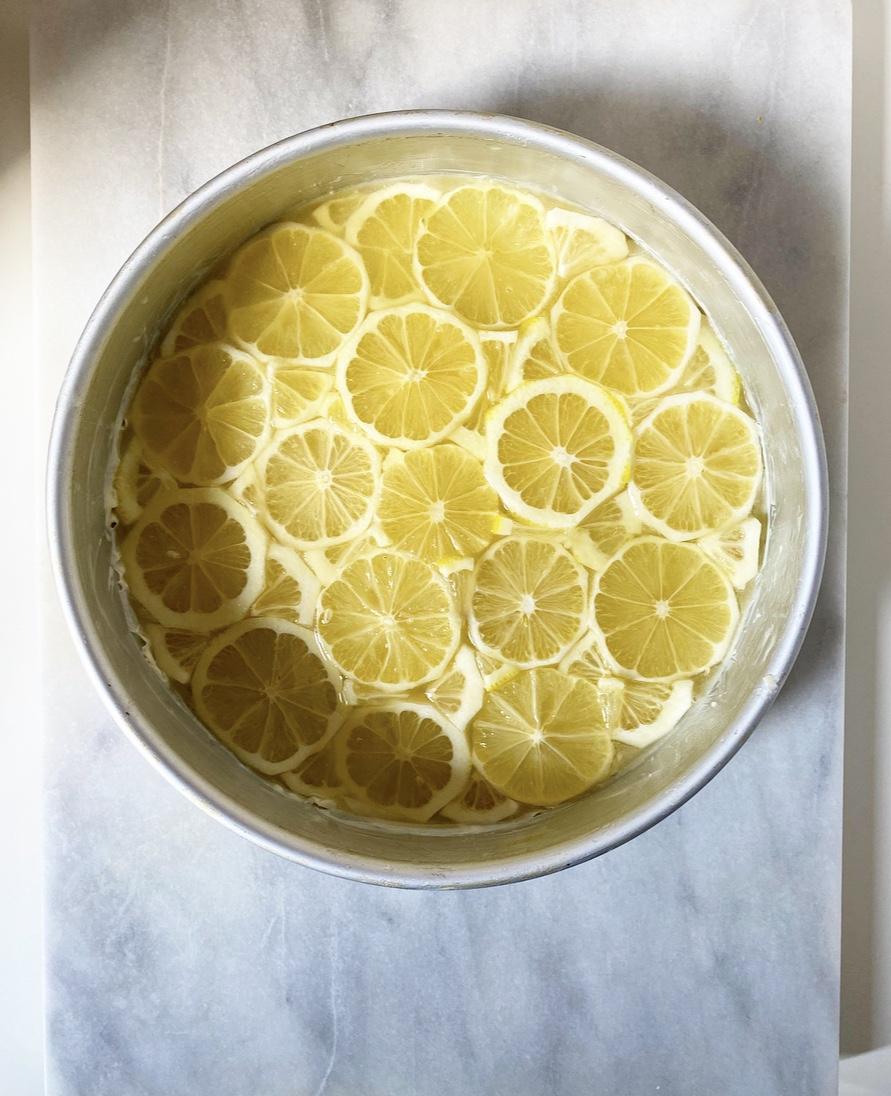 Sunny Lemon Upside-Down Cake