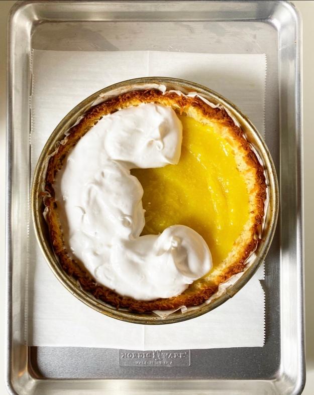 Lemon Meringue Macaroon Tart