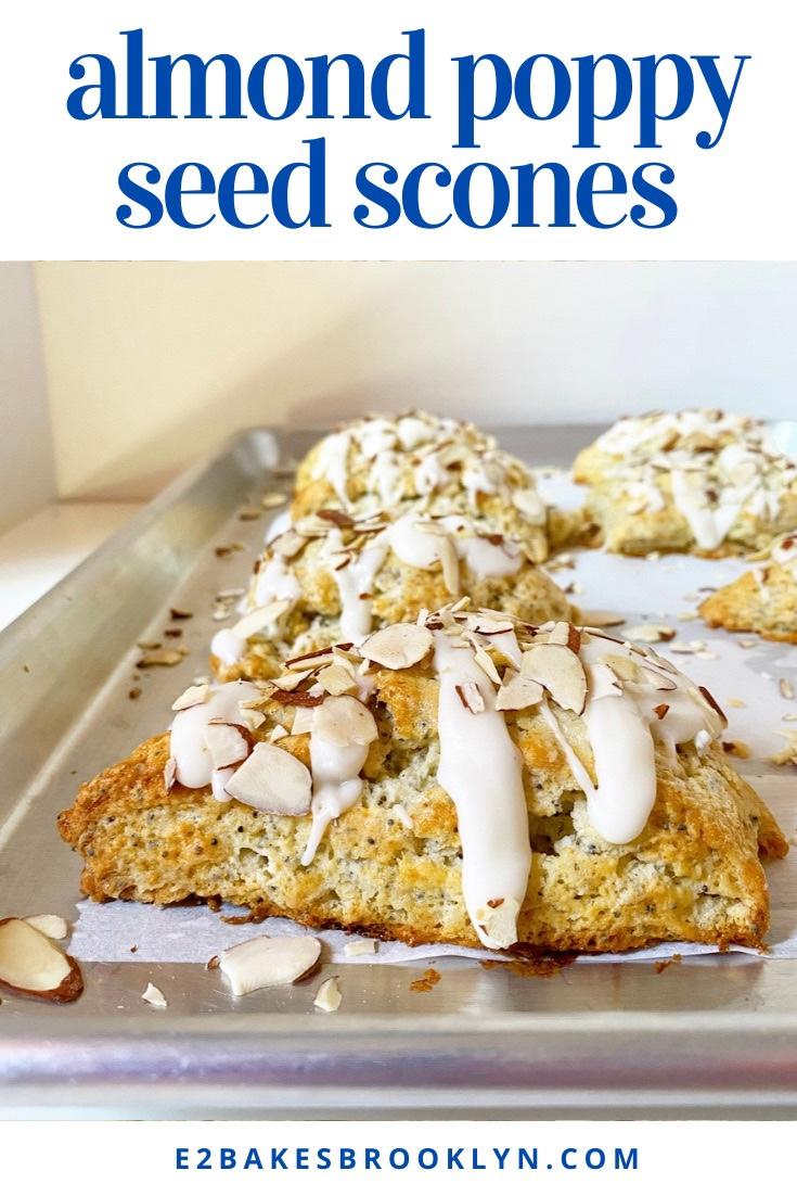 Almond Poppy Seed Scones