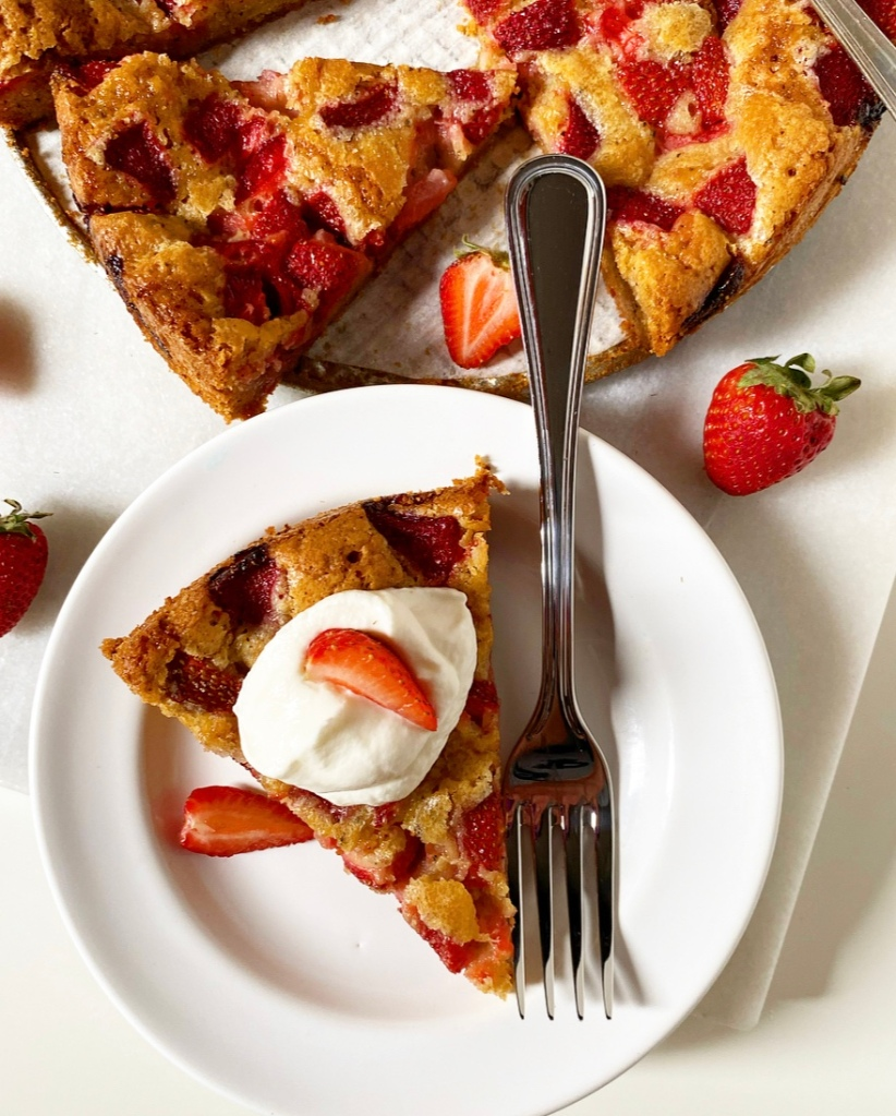 Brown Butter Strawberry Torte