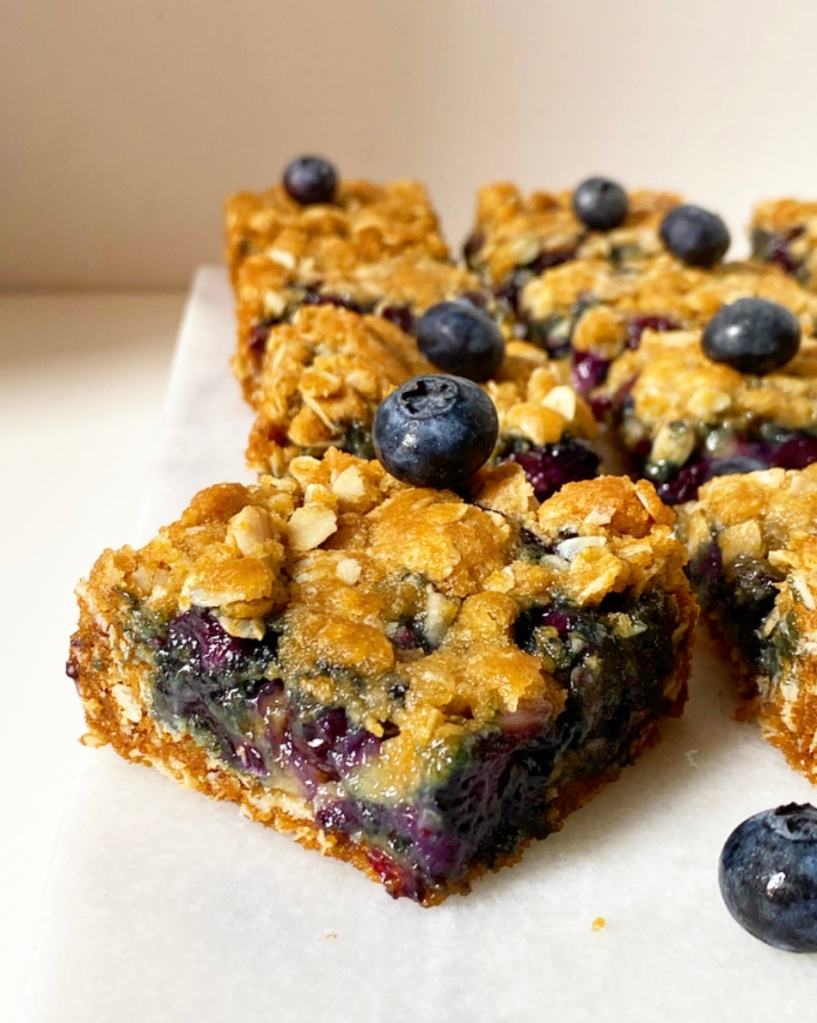 Blueberry Oat Squares