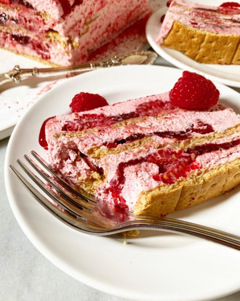 Triple Raspberry Icebox Cake