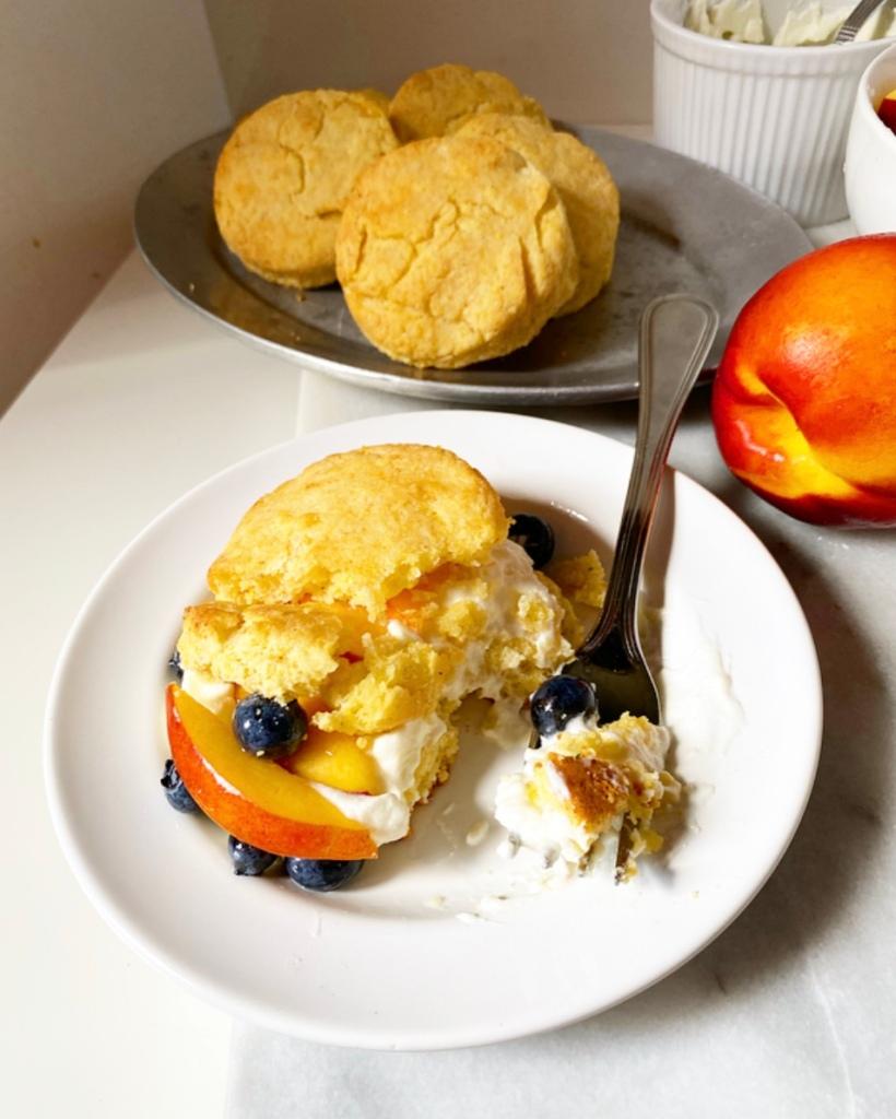 Cornmeal Summer Shortcakes