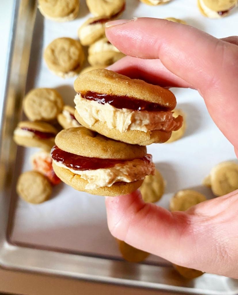 Peanut Butter & Jelly Sandwich Cookies