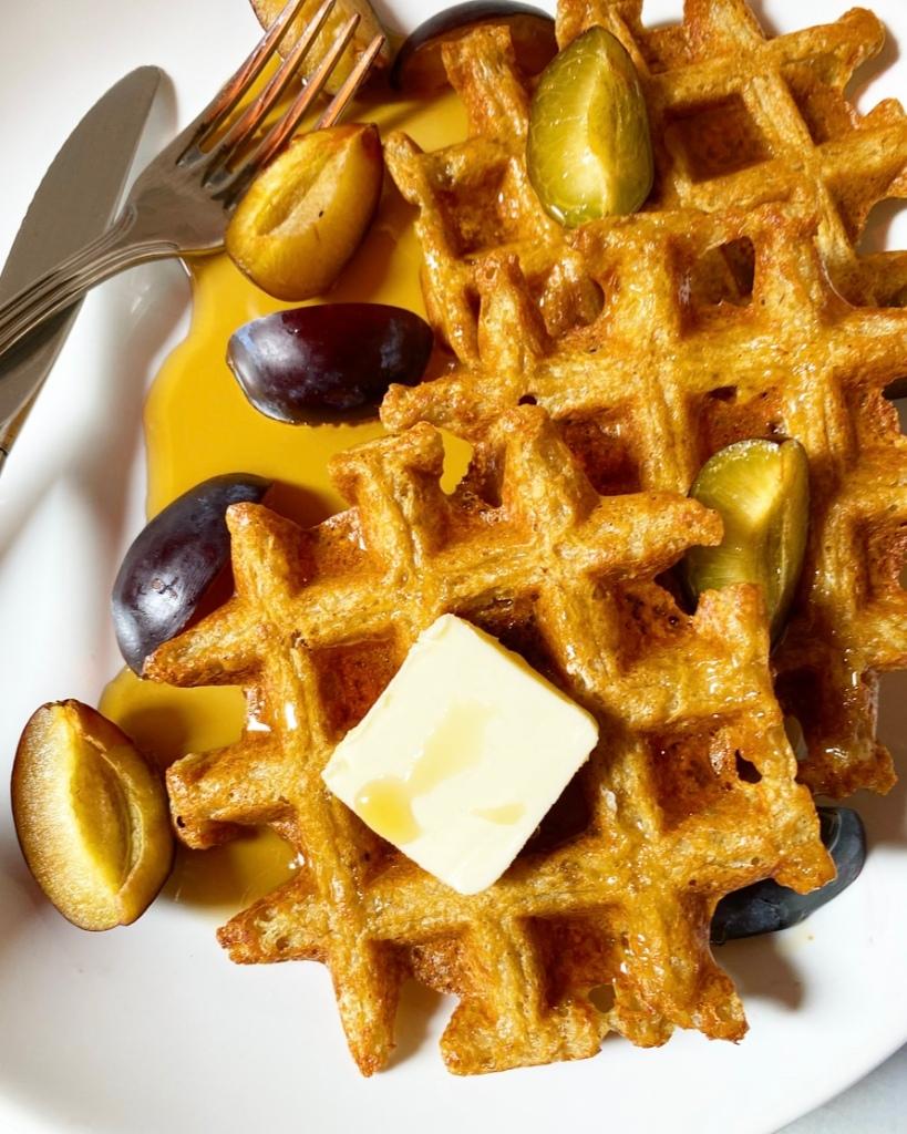 Yeasted Oatmeal Waffles {Gluten-Free}