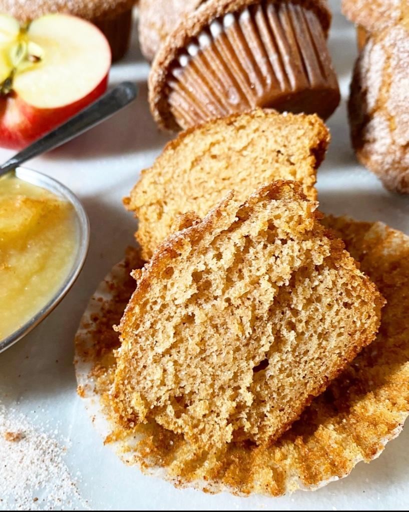Sparkly Applesauce Muffins